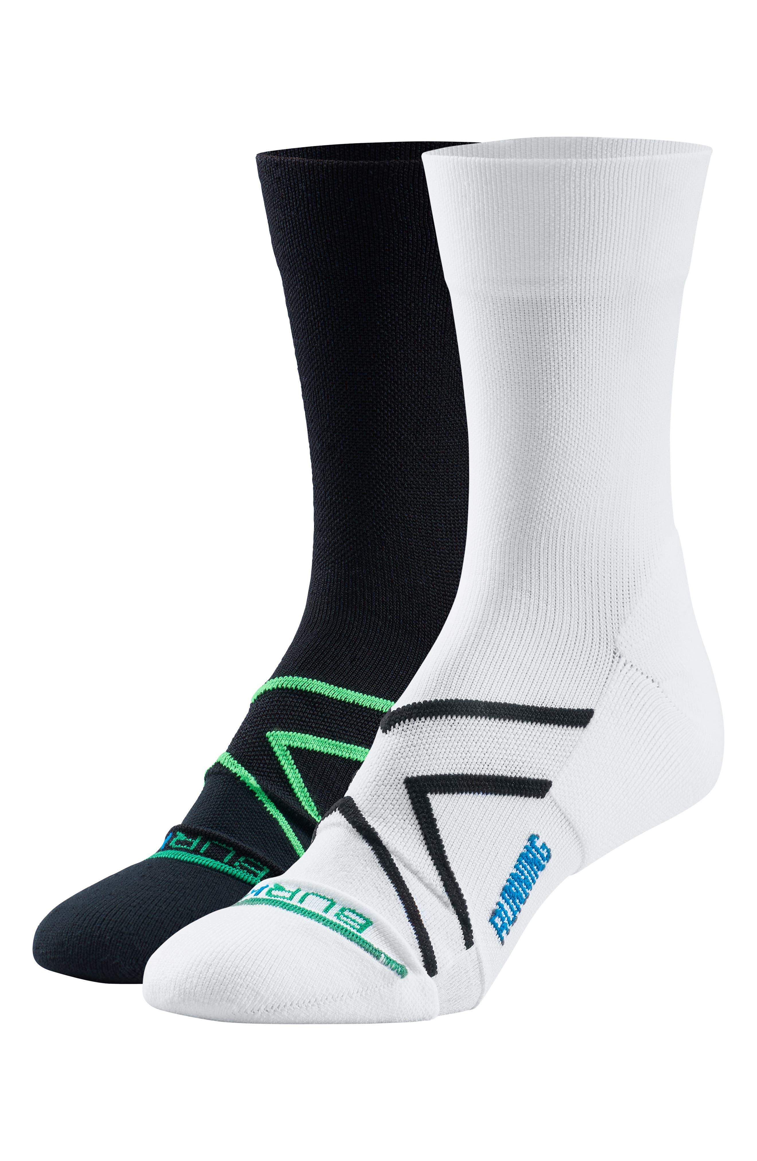 Assorted 2-Pack Sport Running Crew Socks