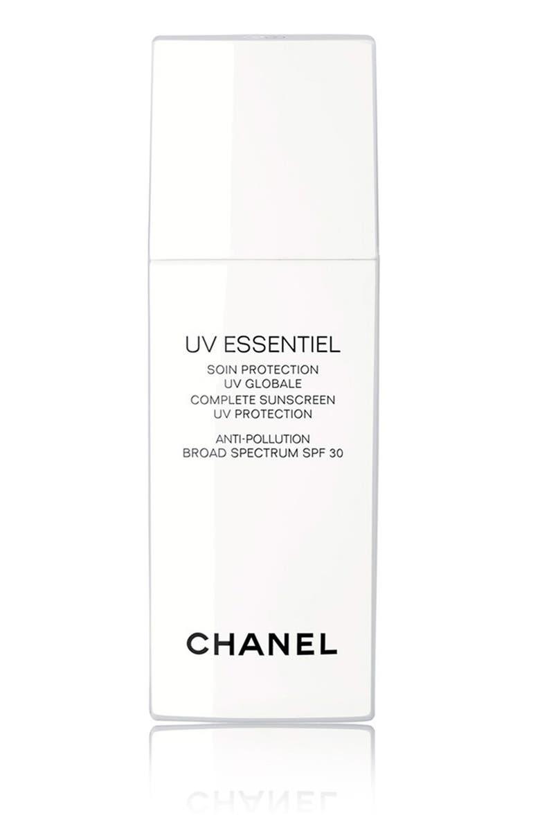 CHANEL UV ESSENTIEL <br />Complete Sunscreen UV Protection Anti-Pollution Broad Spectrum SPF 30, Main, color, 000