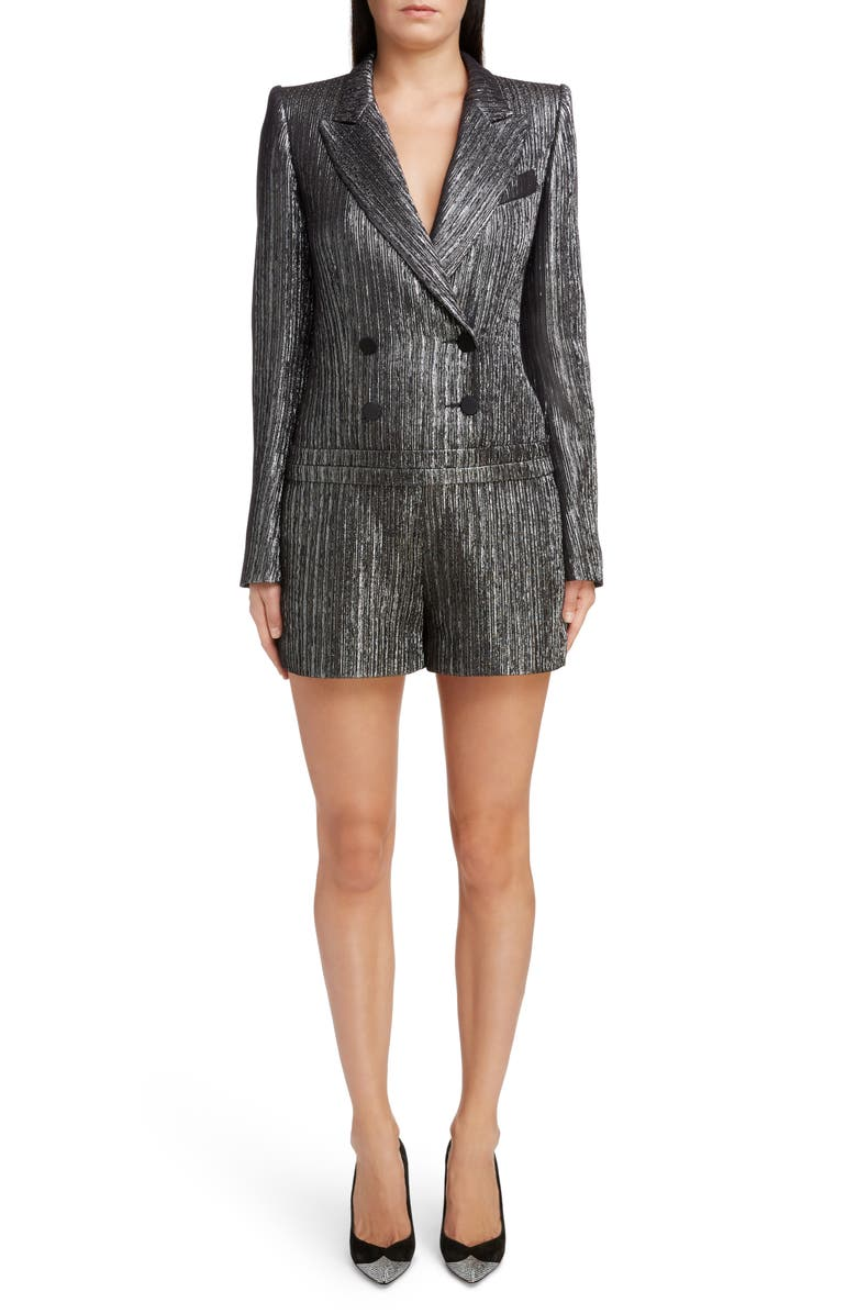 ISABEL MARANT Metallic Double Breasted Romper, Main, color, 040