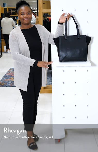 Chele 2 Faux Leather & Genuine Suede Tote, sales video thumbnail
