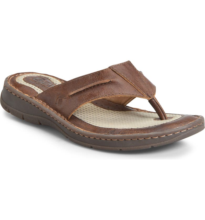 BØRN Whitman Flip Flop, Main, color, TAN LEATHER