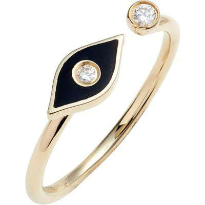 Ef Collection Evil Eye Diamond Open Ring