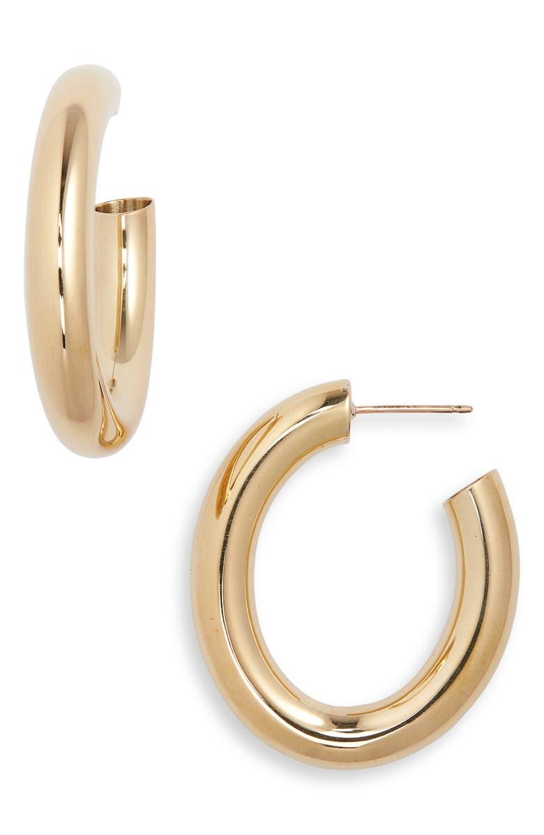 LAURA LOMBARDI Mini Curve Earrings, Main, color, 710