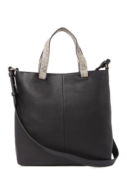 Image of Vince Camuto Vivia Leather Crossbody Tote Bag
