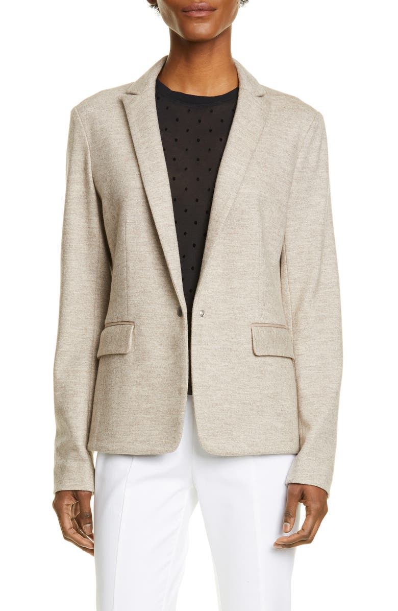 RAG & BONE Lexington Wool Blazer, Main, color, OATMEAL MELANGE