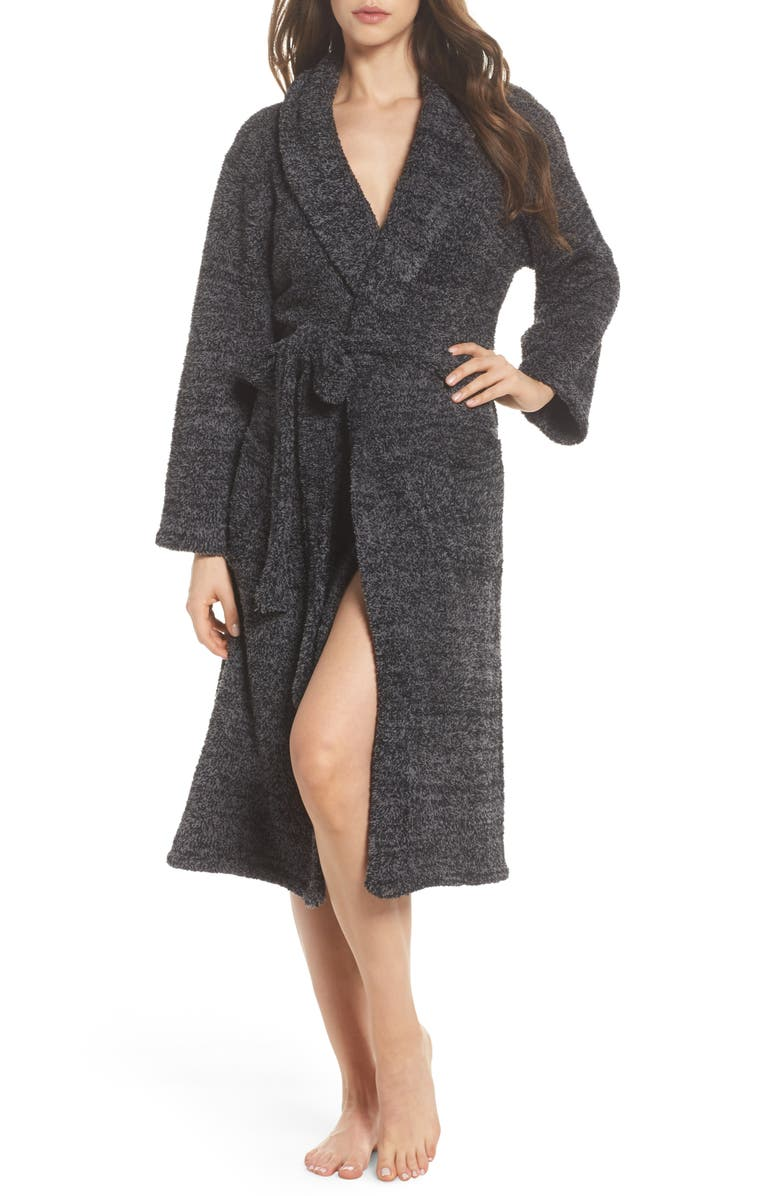 BAREFOOT DREAMS<SUP>®</SUP> CozyChic<sup>®</sup> Robe, Main, color, BLACK/ GRAPHITE