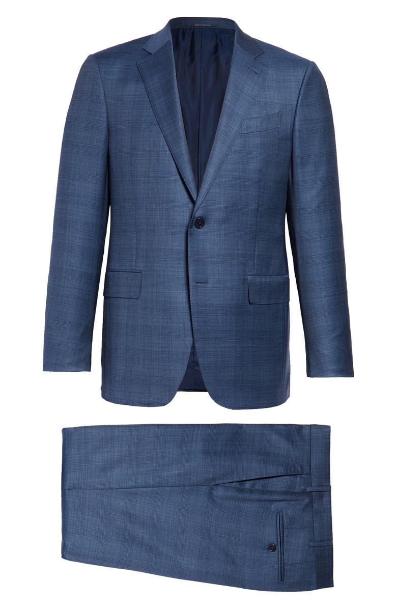 ERMENEGILDO ZEGNA Milano Achillfarm Classic Fit Plaid Wool & Silk Suit, Main, color, 426