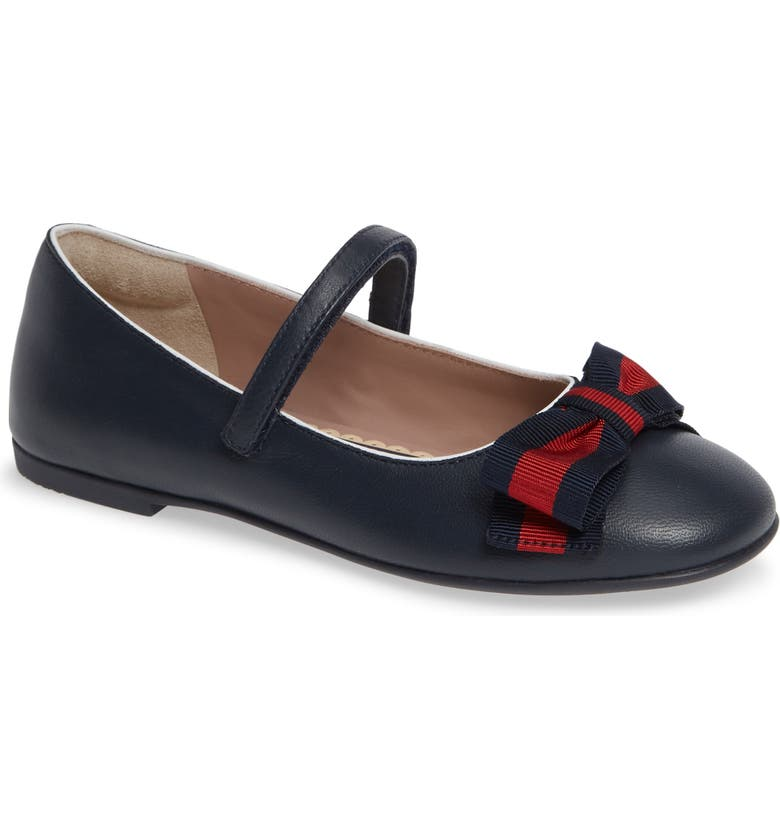 GUCCI Cindy Mary Jane Flat, Main, color, BLUE/ GREAT WHITE/ RED