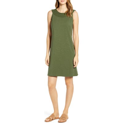 Tommy Bahama Embroidered Neck Dress, Green