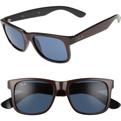 Ray-Ban Justin 51Mm Flat Top Sunglasses - Brown/ Dark Blue Solid