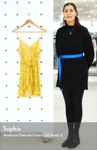 Print Ruffle Minidress, sales video thumbnail