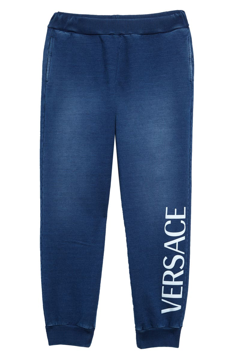 VERSACE Logo Joggers, Main, color, DARK BLUE