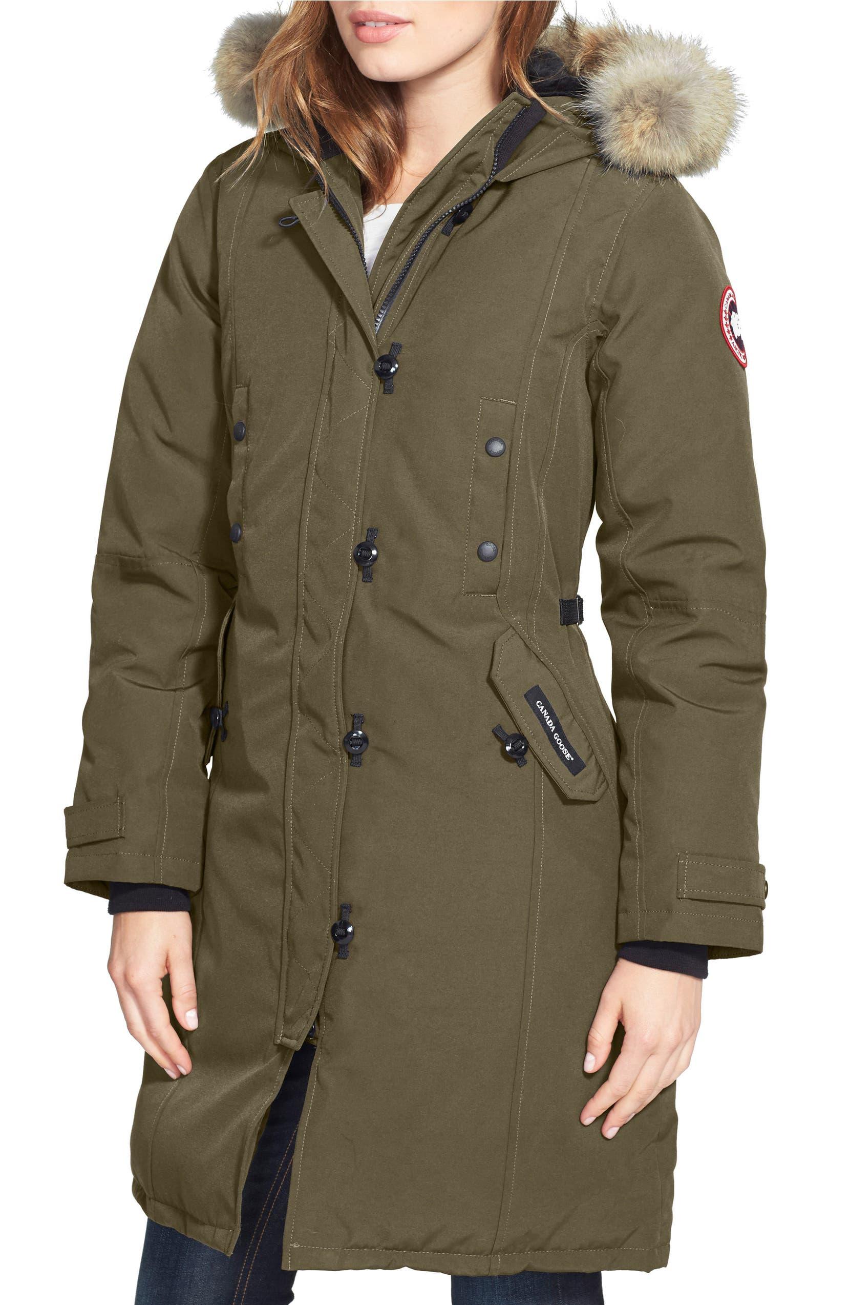 hot sale online 5709e dfe56 Kensington Slim Fit Down Parka with Genuine Coyote Fur Trim