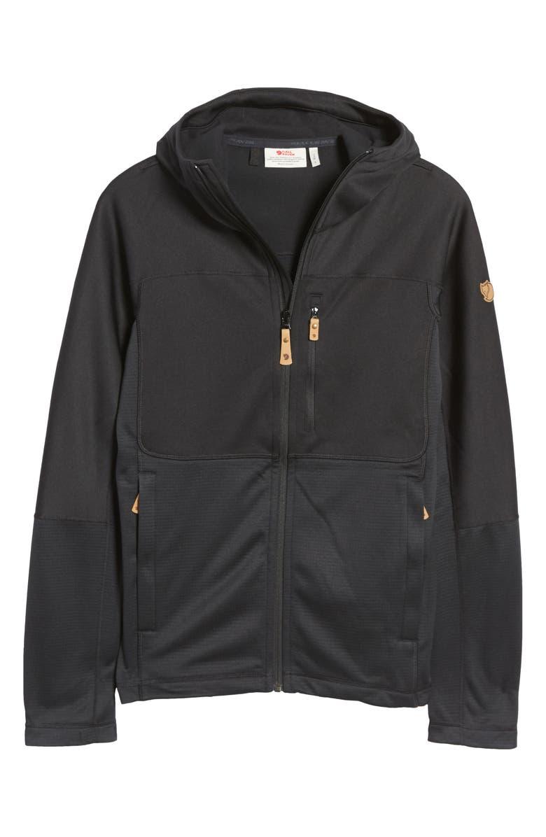 FJÄLLRÄVEN Men's Absiko Trail Fleece Jacket, Main, color, BLACK
