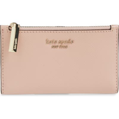 Kate Spade New York Spencer Small Slim Saffiano Leather Bifold Wallet - Pink