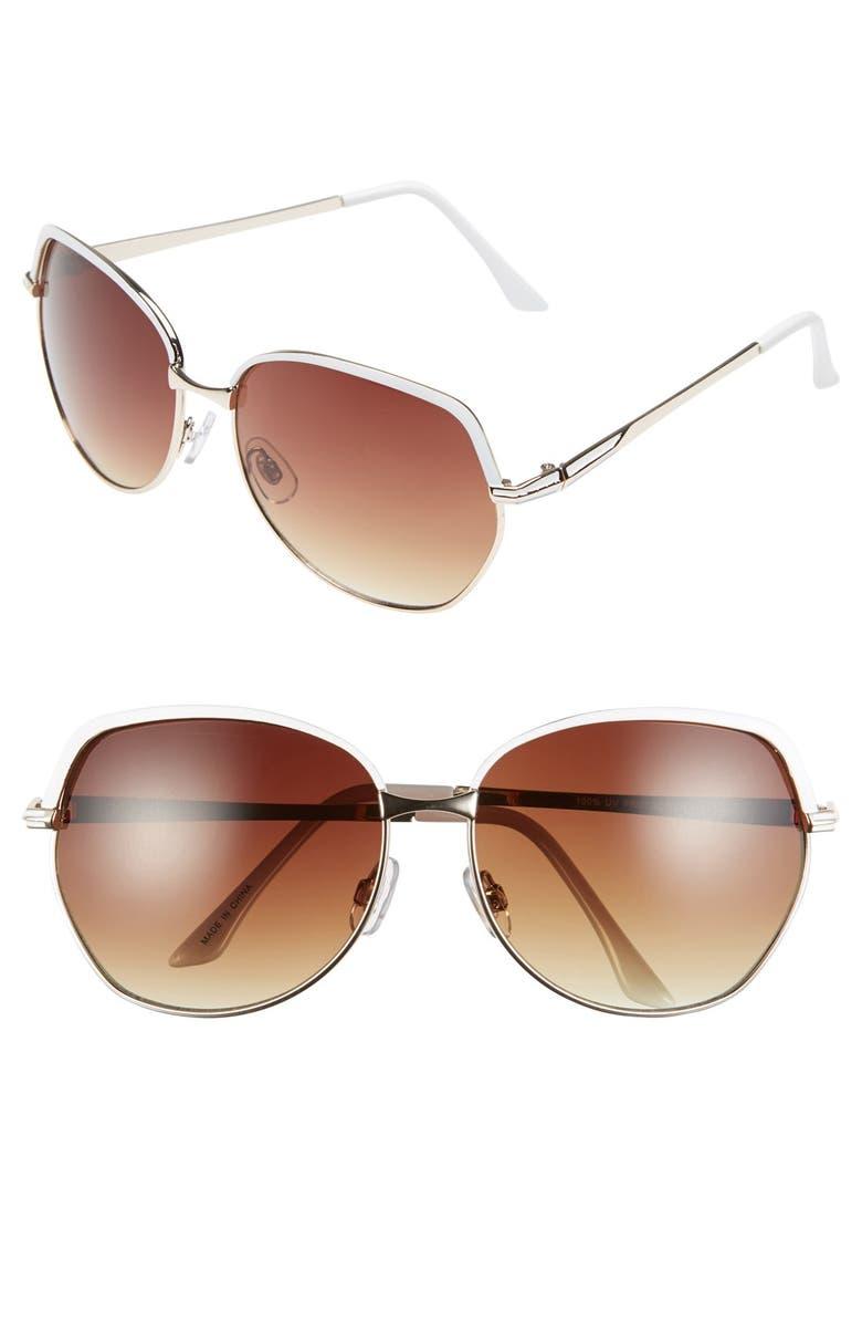 BP. 'Incognito' 61mm Sunglasses, Main, color, 710