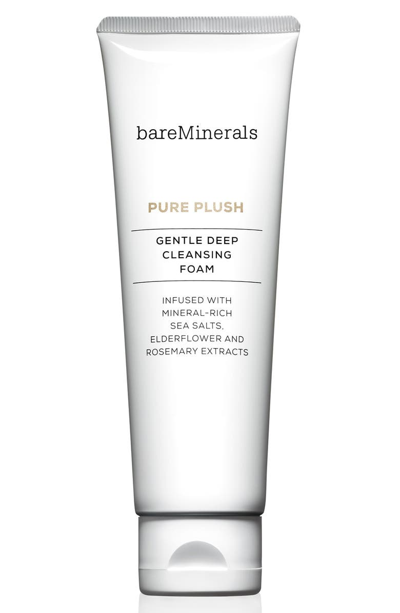 BAREMINERALS<SUP>®</SUP> Pure Plush Gentle Deep Cleansing Foam, Main, color, 000