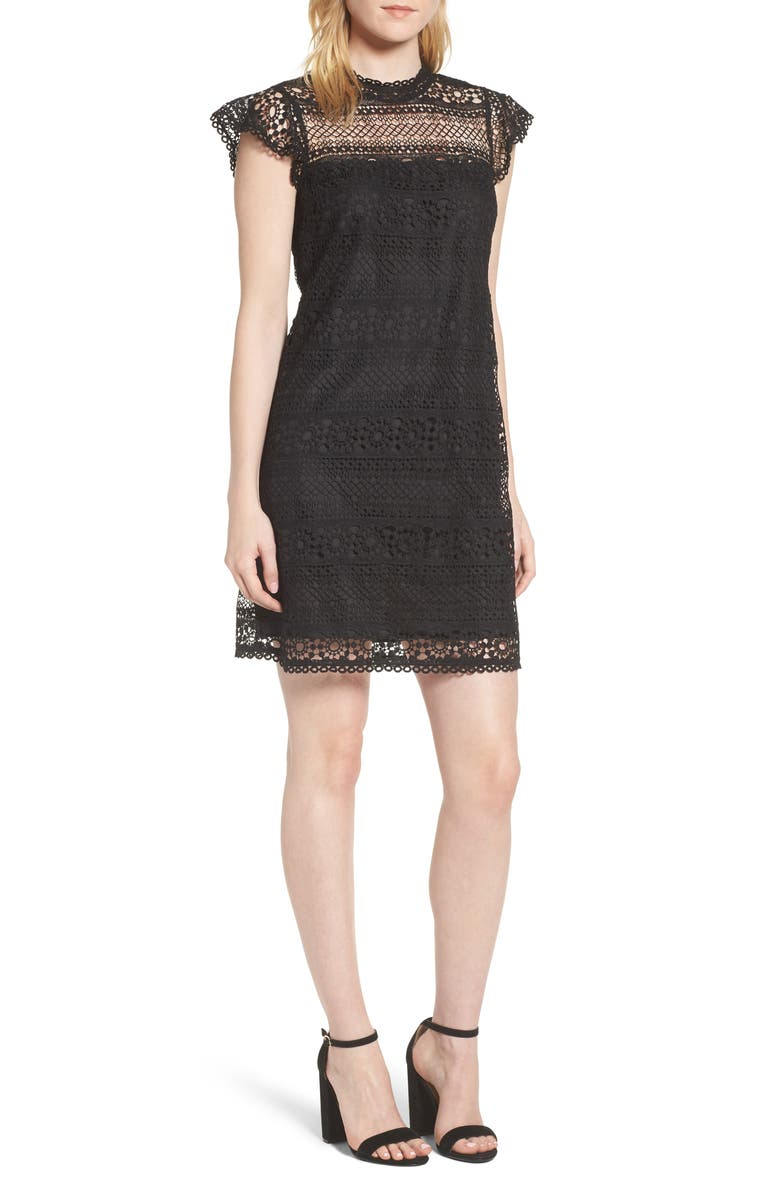 CUPCAKES AND CASHMERE Delight Lace Dress, Main, color, 001