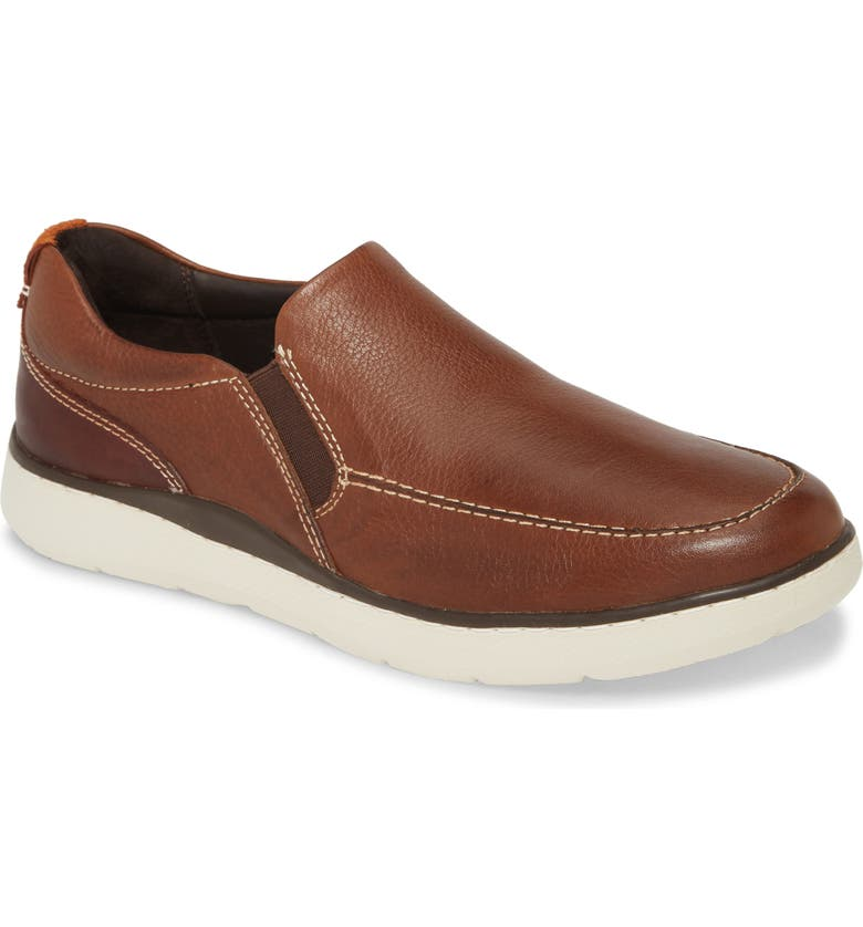 JOHNSTON & MURPHY Farley Slip-On, Main, color, TAN TUMBLED