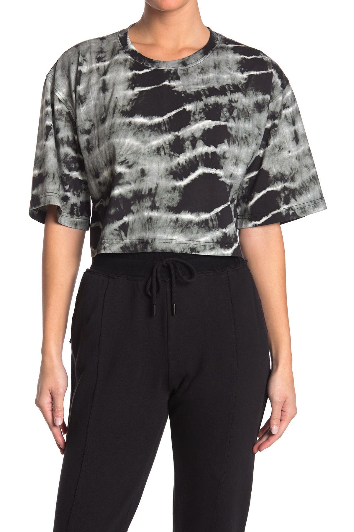 Image of Nicole Miller Embroidery Crop T-Shirt