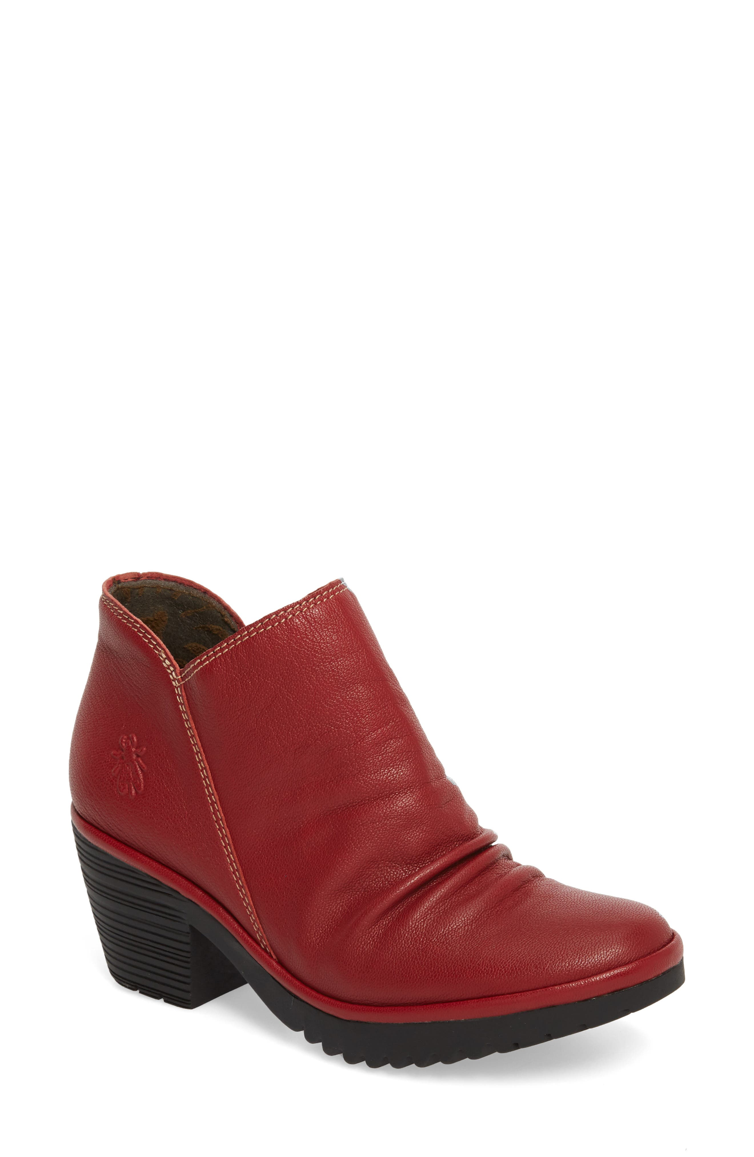 Fly London Wezo Bootie-7- Red