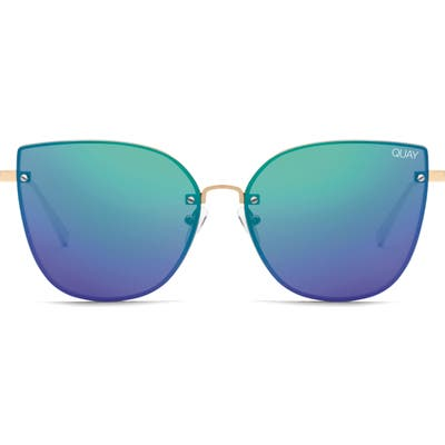 Quay Australia Lexi 5m Cat Eye Sunglasses - Gold/ Pink/ Blue/ Green