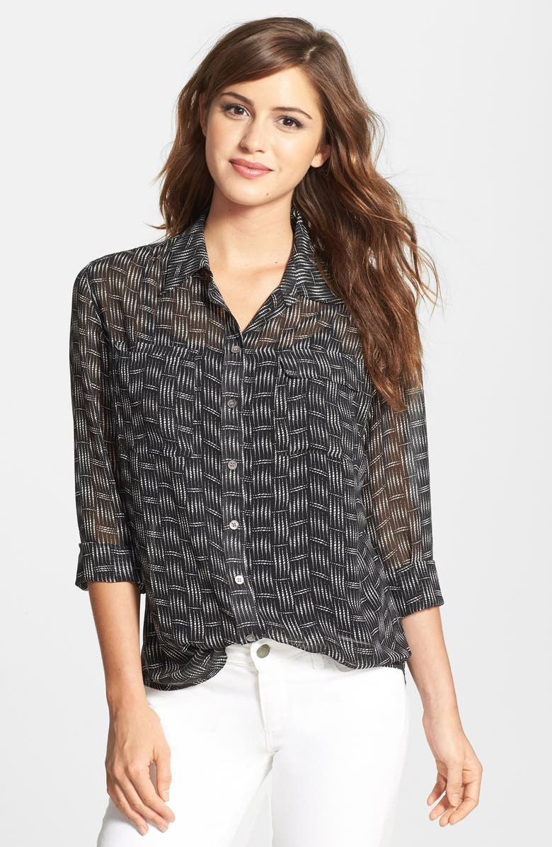 Two by Vince Camuto Print Utility Shirt (Regular & Petite) | Nordstrom