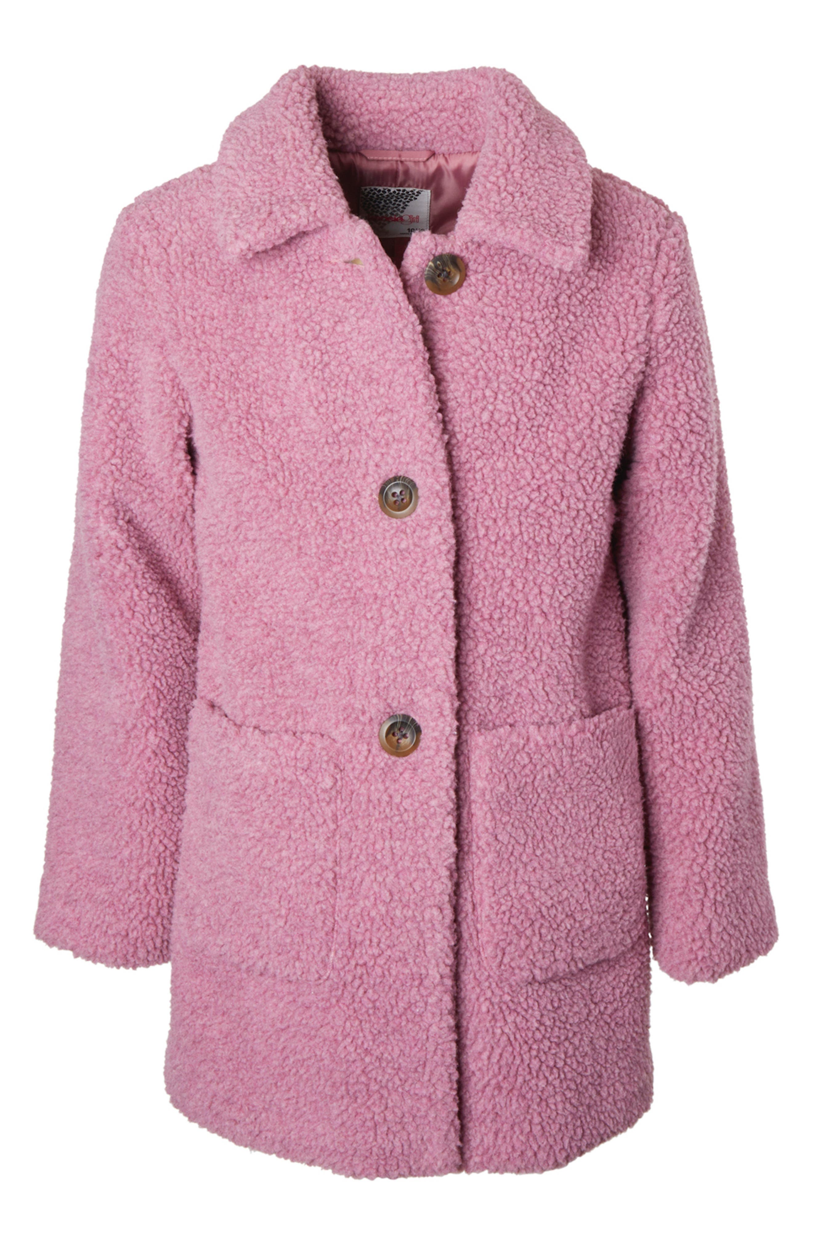 The teddy coat is the cozy look and feel she\\\'ll want as the temperatures dip, and this button-front style with roomy pockets is a wearable hug she\\\'ll love. Style Name: Kensie Girl Teddy Long Jacket (Big Girl). Style Number: 5898076. Available in stores.