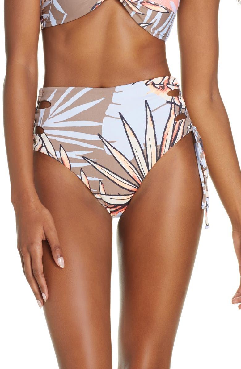 MAAJI Ipanema Sunset High Waist Reversible Bikini Bottoms, Main, color, 800
