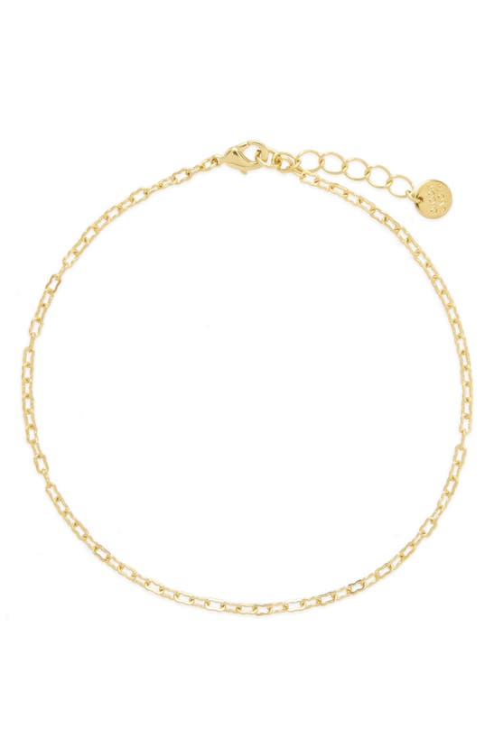 Brook & York Leni Chain Link Anklet In Gold