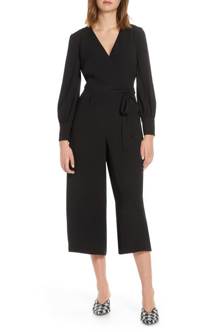 Image of Eliza J Long Sleeve Crop Jumpsuit