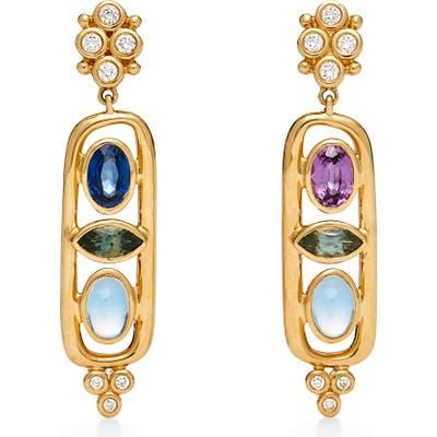 Temple St. Clair Theodora Cartouche Drop Earrings