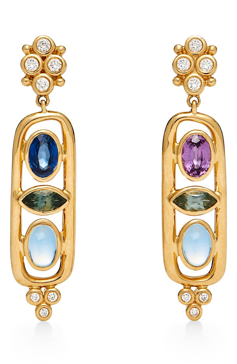TEMPLE ST. CLAIR Theodora Cartouche Drop Earrings, Main, color, 710