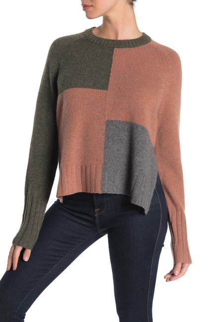 Image of 360 Cashmere Hailey Colorblock Cashmere Sweater