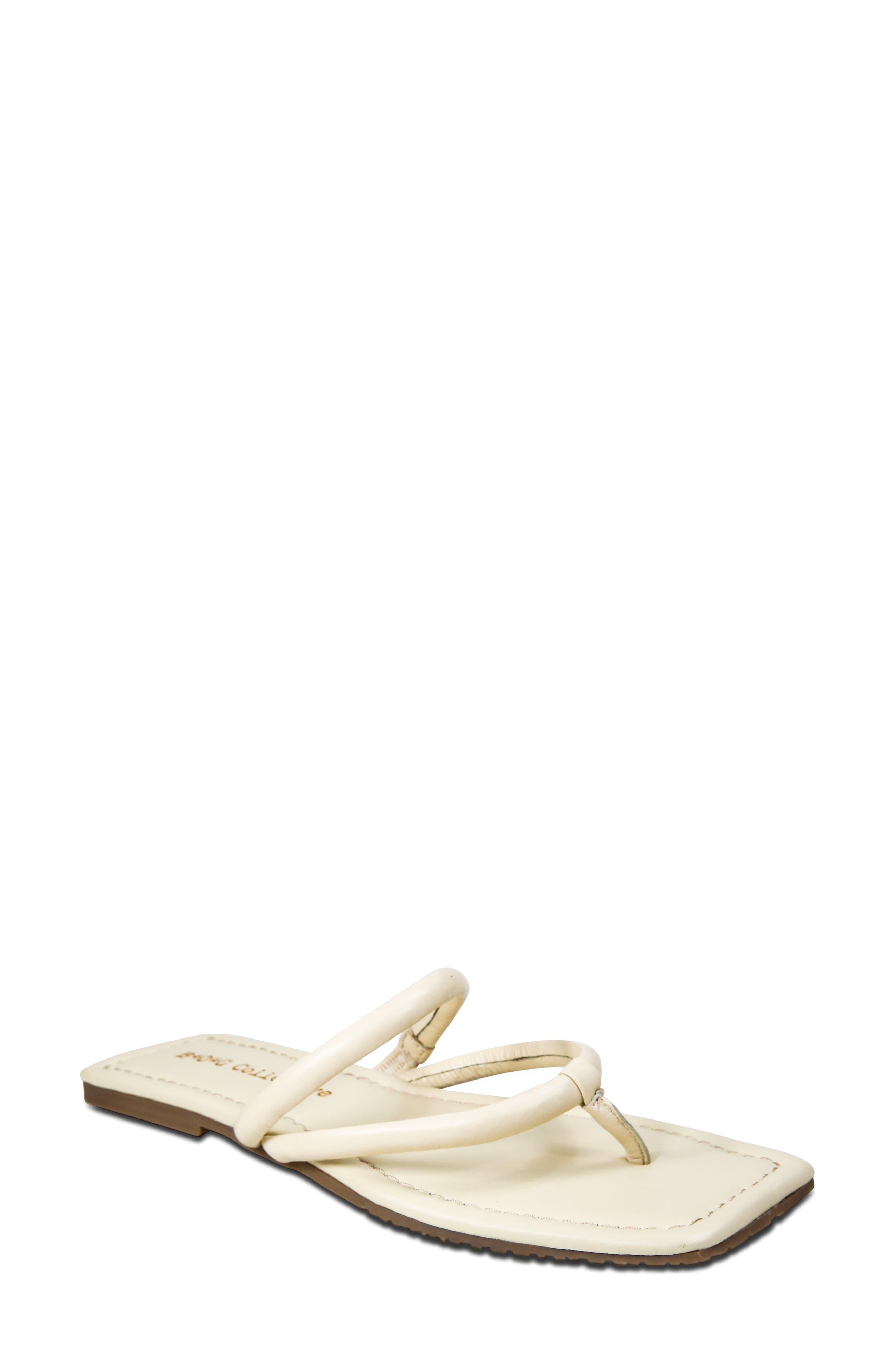 Rambla Square Toe Slide Sandal