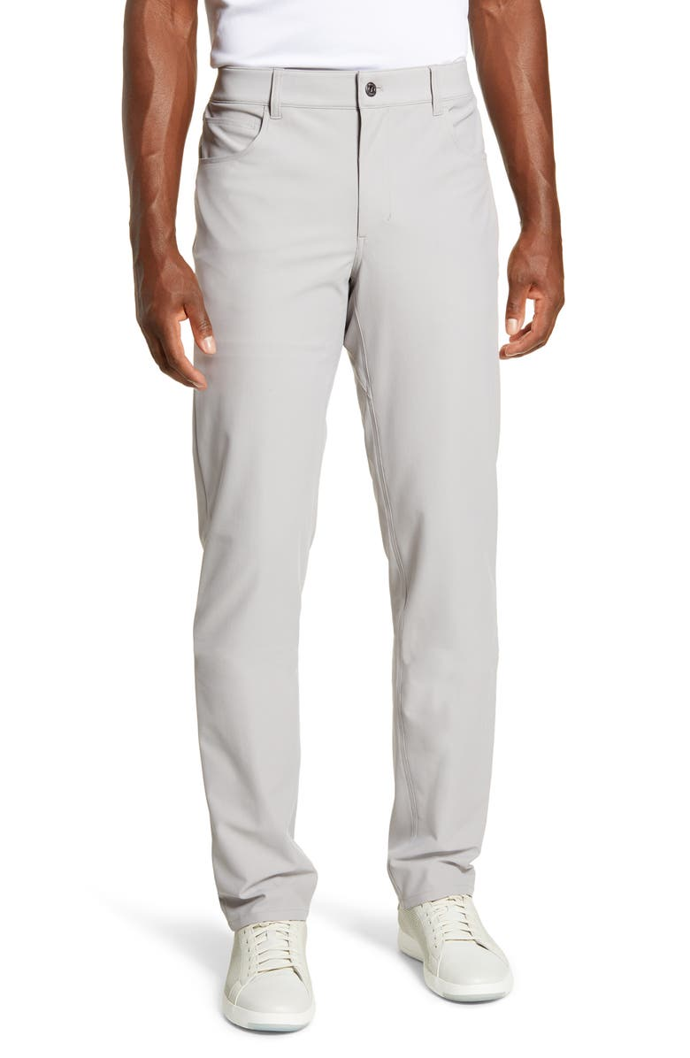 JOHNNIE-O Cross Country Classic Performance Five-Pocket Pants, Main, color, QUARRY