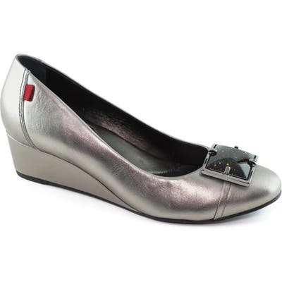 Marc Joseph New York Cooper Wedge Pump, Metallic