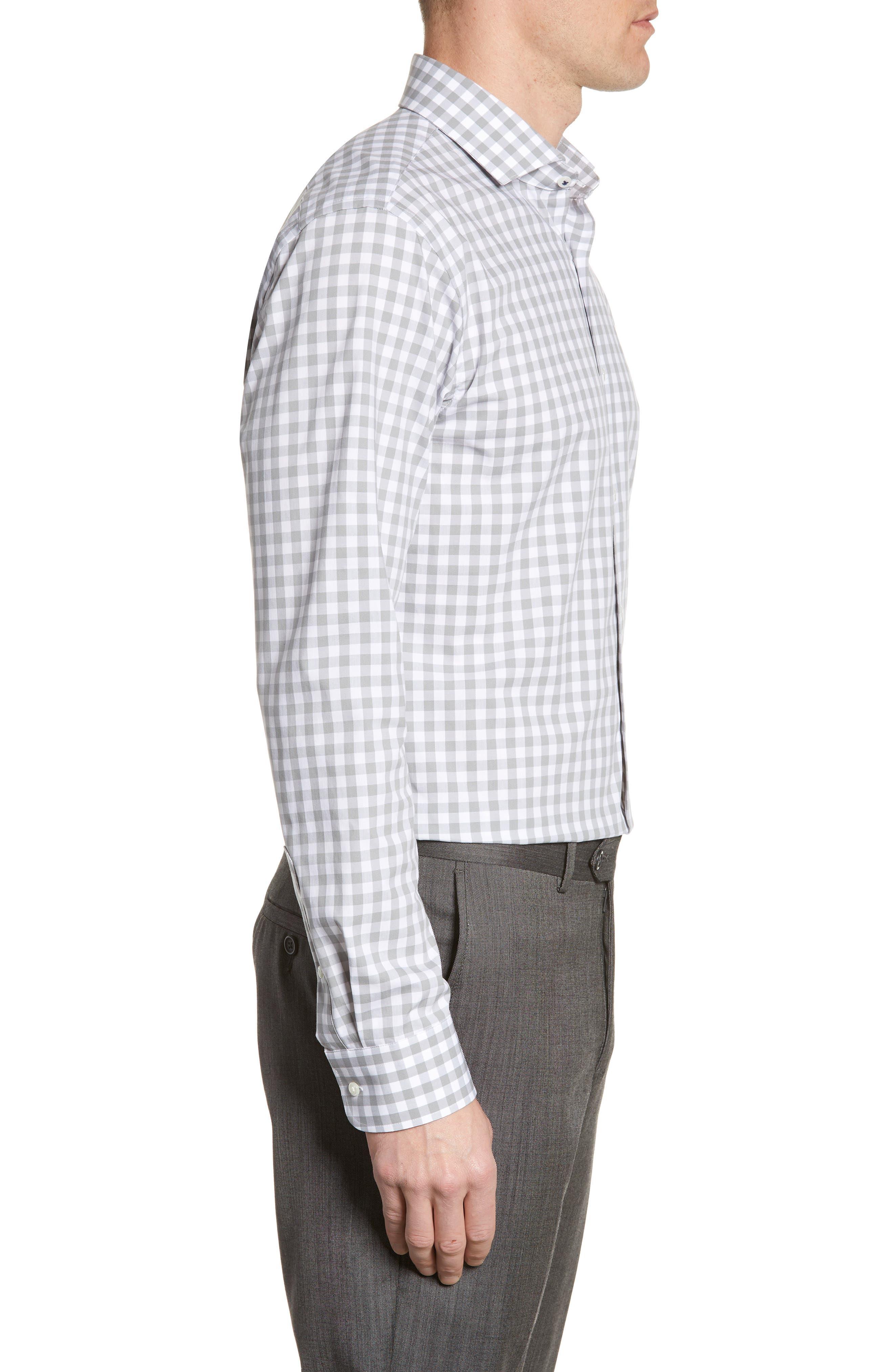 ,                             Tech-Smart Trim Fit Stretch Check Dress Shirt,                             Alternate thumbnail 10, color,                             050