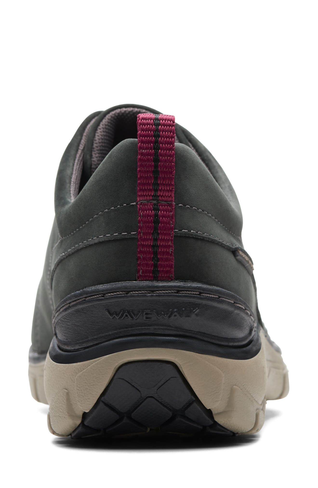 ,                             Wave Go Waterproof Sneaker,                             Alternate thumbnail 4, color,                             BLACK NUBUCK/ LEATHER COMBI