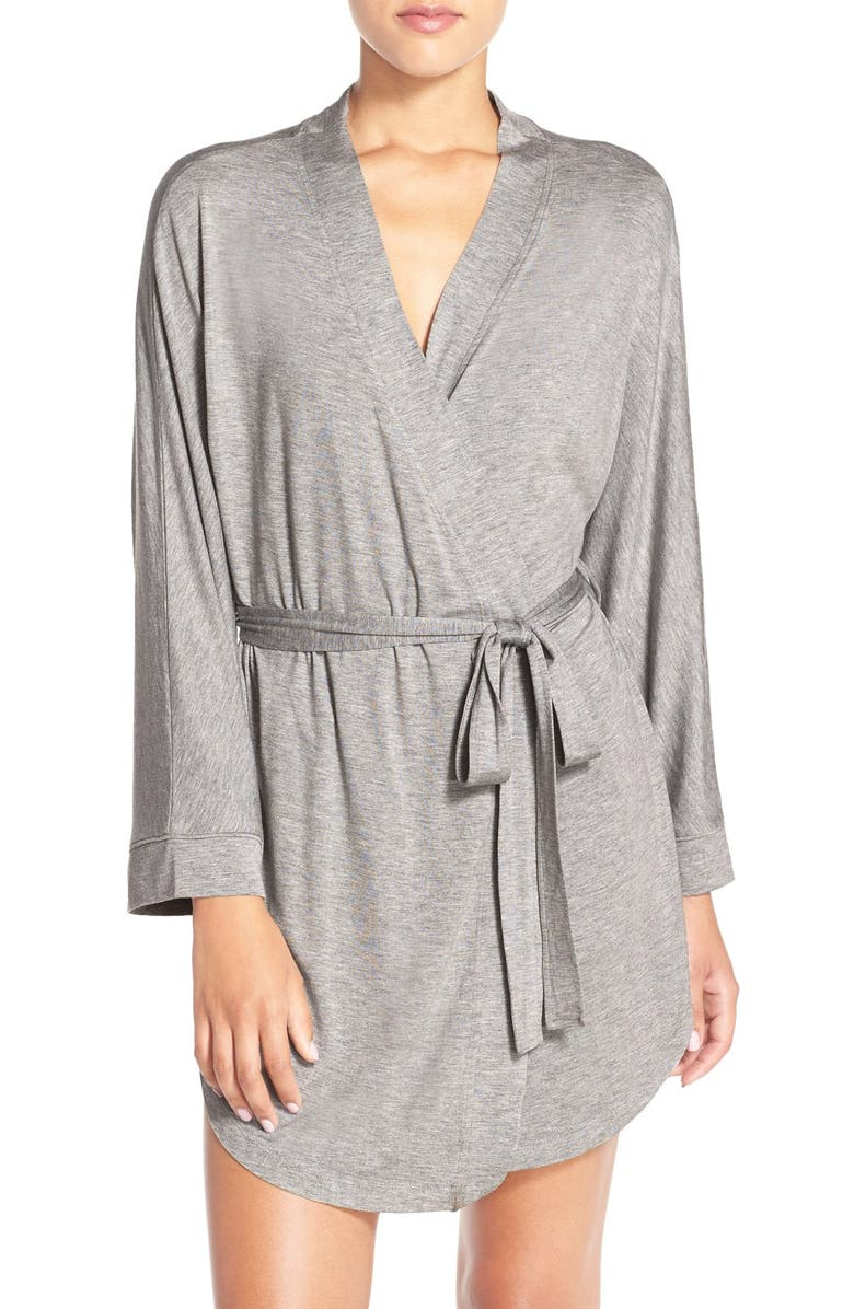 HONEYDEW INTIMATES All American Jersey Robe, Main, color, HEATHER GREY