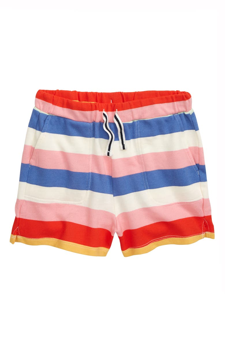 CREWCUTS BY J.CREW Rugby Stripe Pull-On Shorts, Main, color, AMOUR STRIPE MULTI
