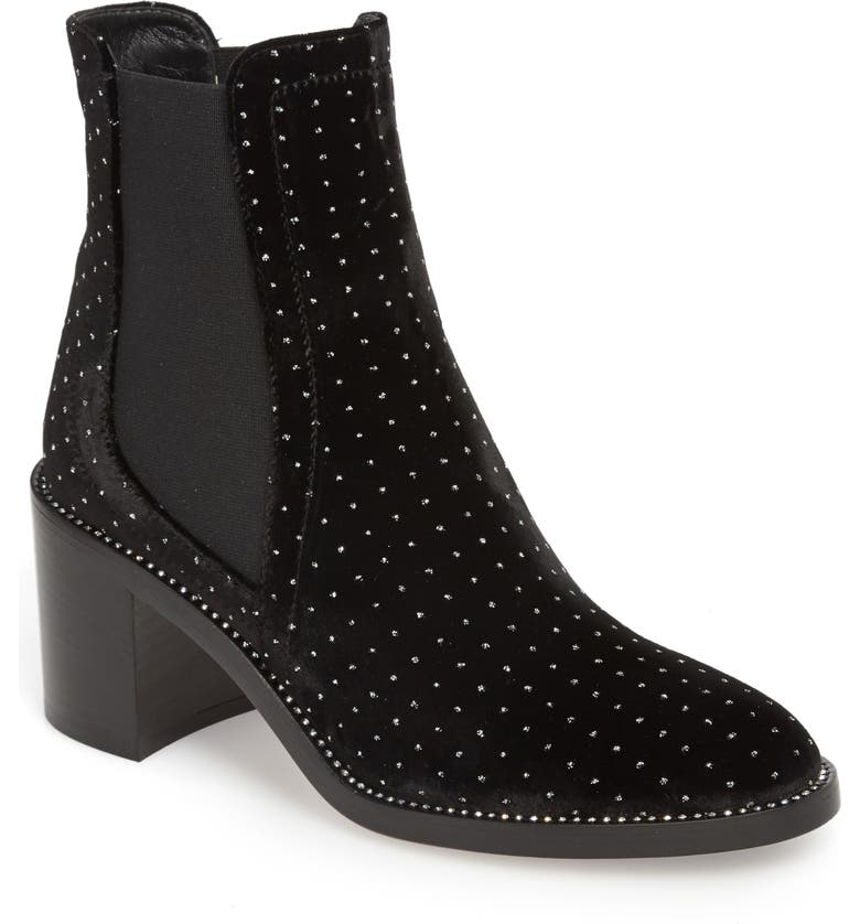 JIMMY CHOO Merril Studded Chelsea Boot, Main, color, 001
