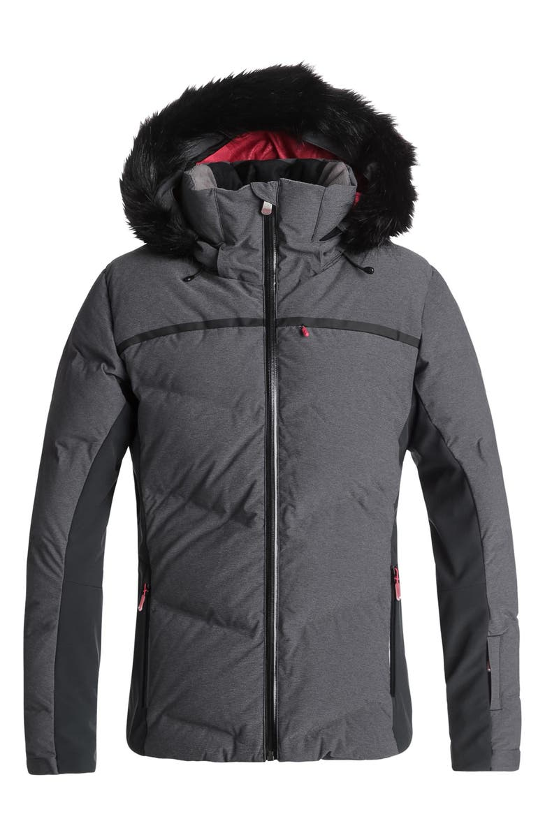 ROXY Snowstorm Waterproof DryFlight<sup>®</sup> WarmFlight<sup>®</sup> Insulated Snowsports Jacket, Main, color, 002