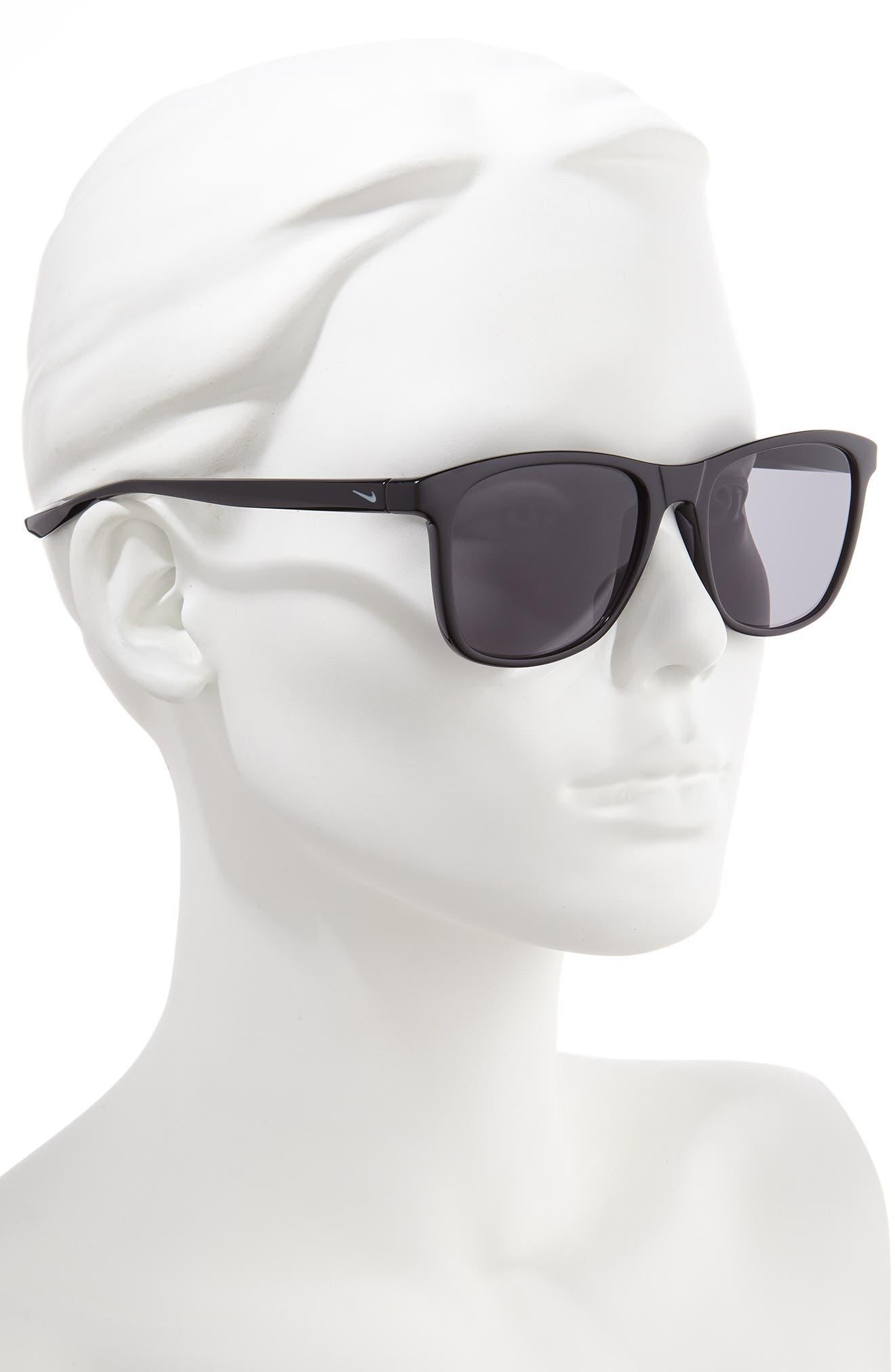 ,                             Passage 55mm Square Sunglasses,                             Alternate thumbnail 2, color,                             BLACK/ DARK GREY