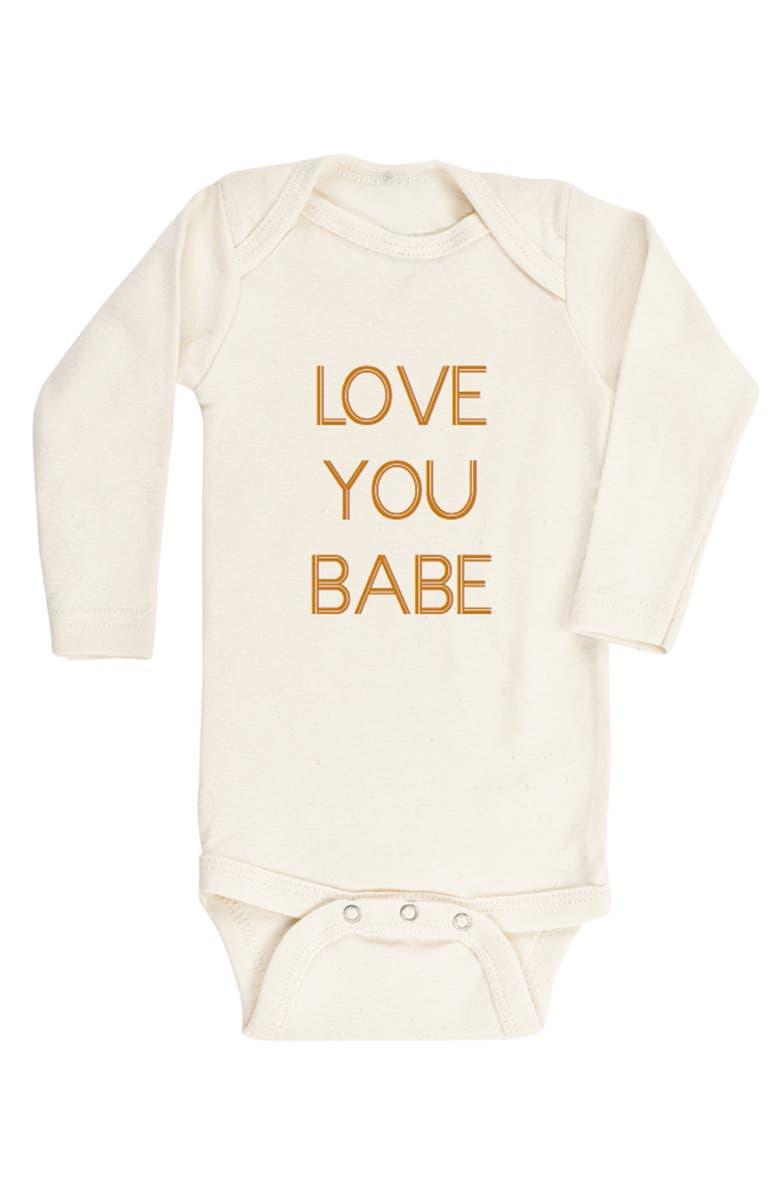 TENTH & PINE Love You Baby Organic Cotton Bodysuit, Main, color, 250