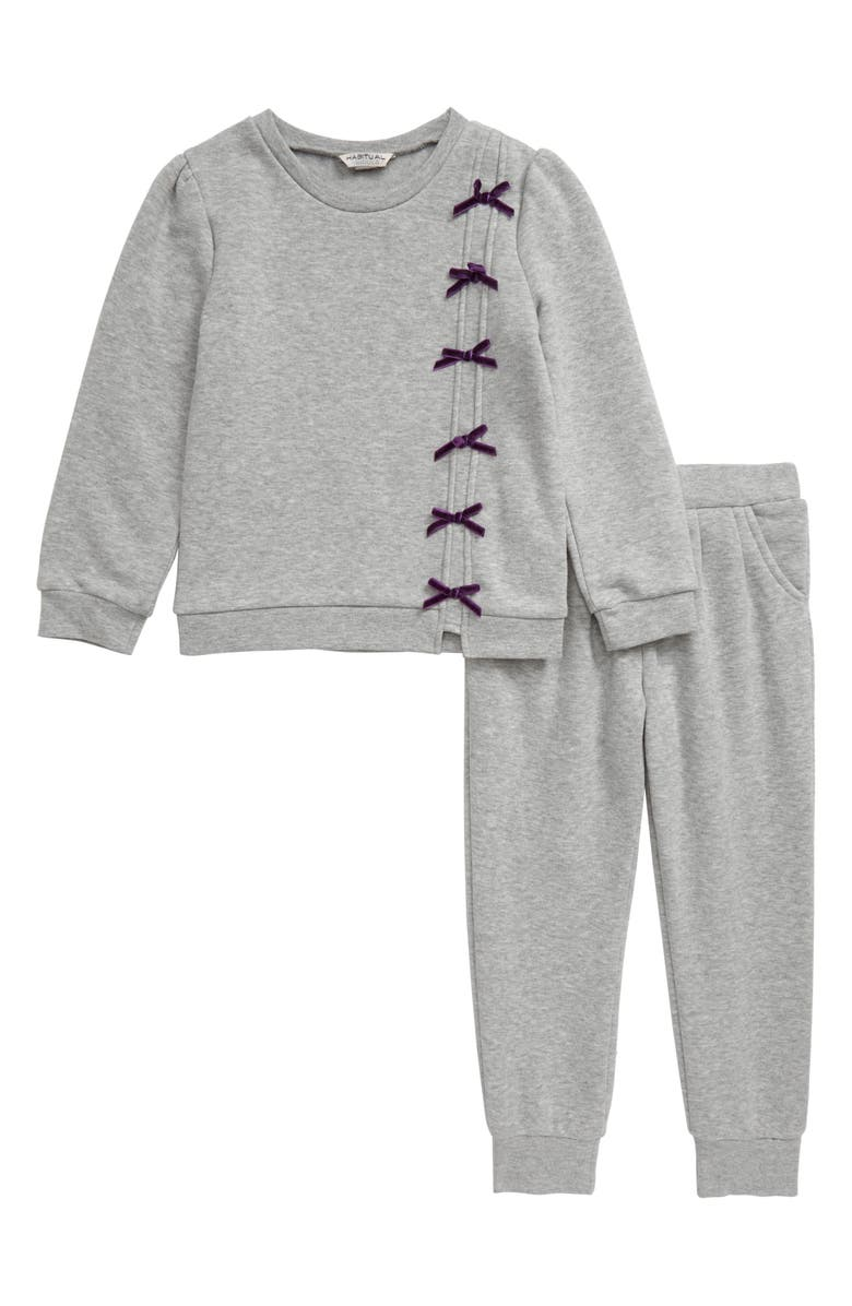 HABITUAL Bella Fleece Sweatshirt & Sweatpants Set, Main, color, 031