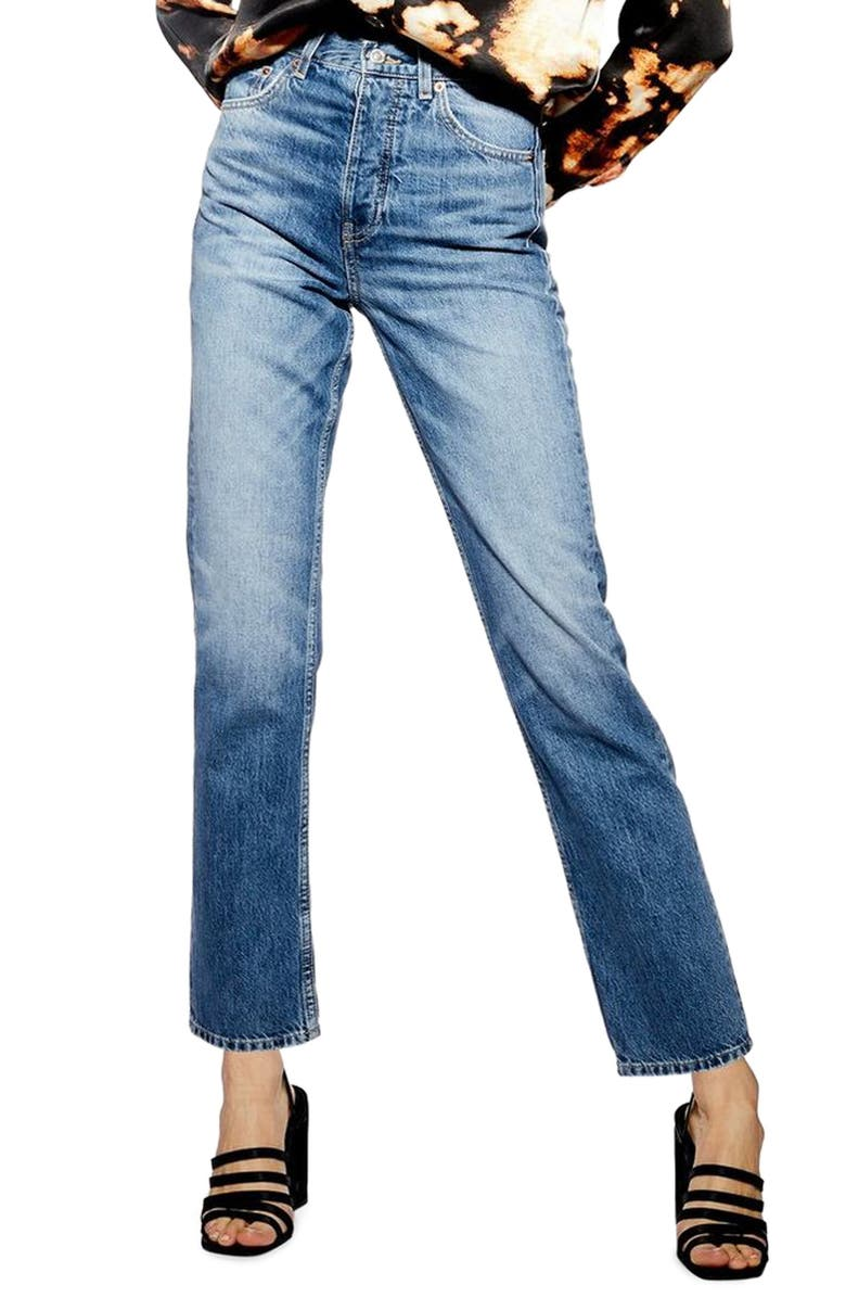 Topshop Editor High Waist Jeans Regular Petite