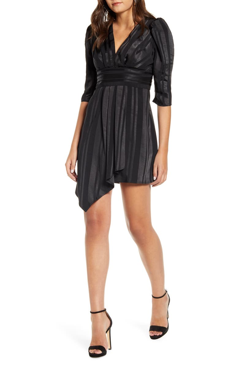 J.O.A. V-Neck Dress, Main, color, 001