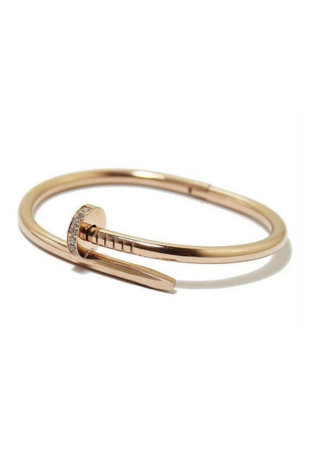 Image of Sterling Forever CZ Nail Wrap Bangle