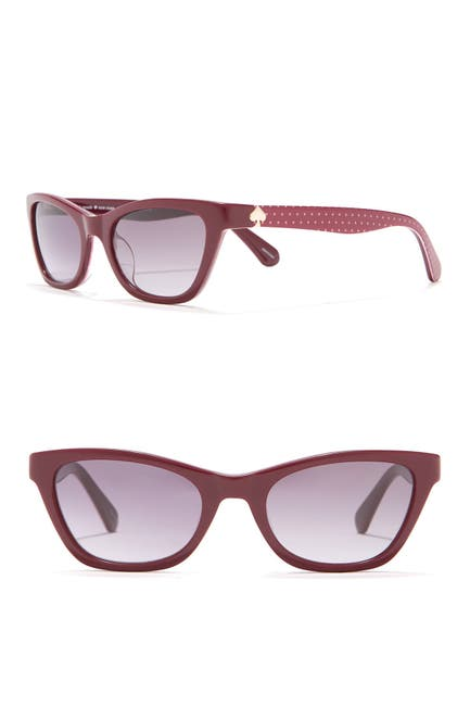Image of kate spade new york johneta 51mm cat eye sunglasses